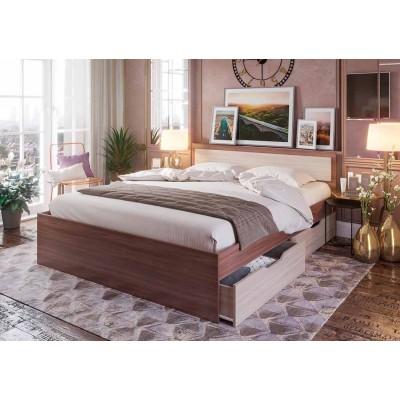 """Кровать """"Гармония КР 605"""" 1,4 м без матраса, ясень"""