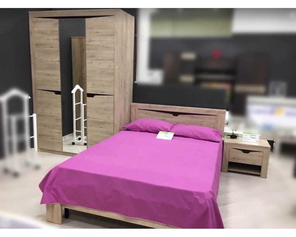 """Кровать """"Соренто"""" 1.2м Дуб Бонифаций"""