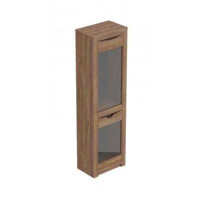 """Шкаф витрина """"Соренто"""" однодверный Дуб Стирлинг"""