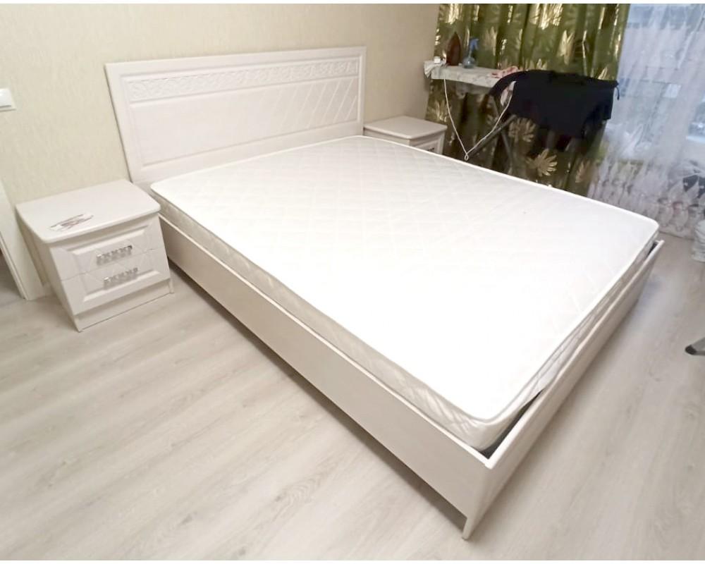 """Кровать №1 """"Флоренция"""" 1.4м (с основанием)"""