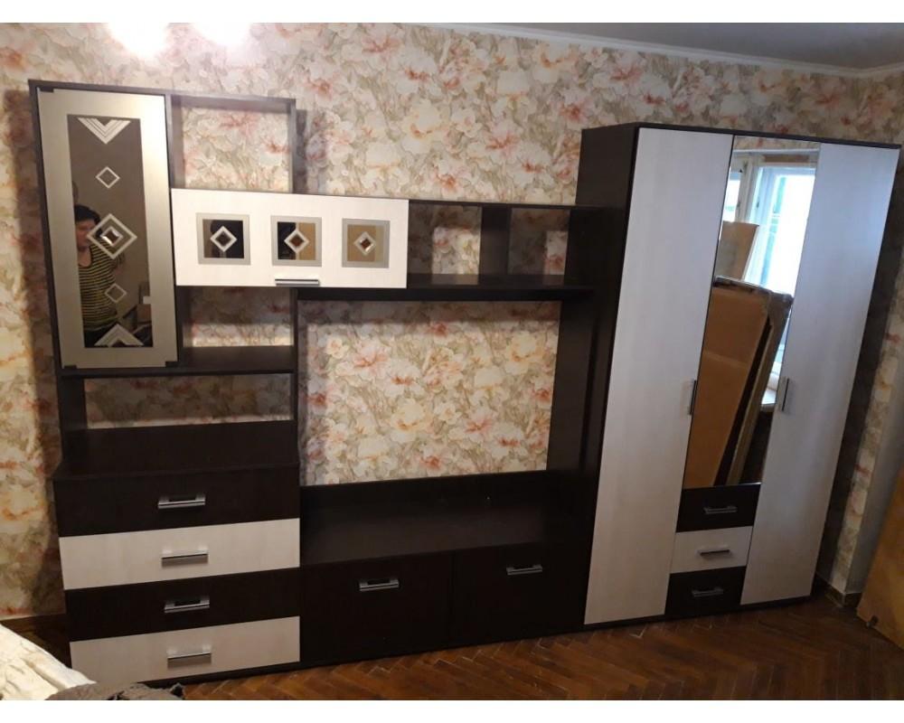 "Стенка гостиная ""Белла"" центр + шкаф 3-х ств."