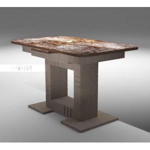 """Стол """"Триумф"""" коричневый камень Н001"""